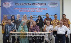 Perhimpunan Ilmu Sosial Ekonomi Peternakan Indonesia (Persepsi) menggelar pelantikan personalia pengurus komisi daerah Jawa Timur (Komda Jatim) periode 2018 – 2021