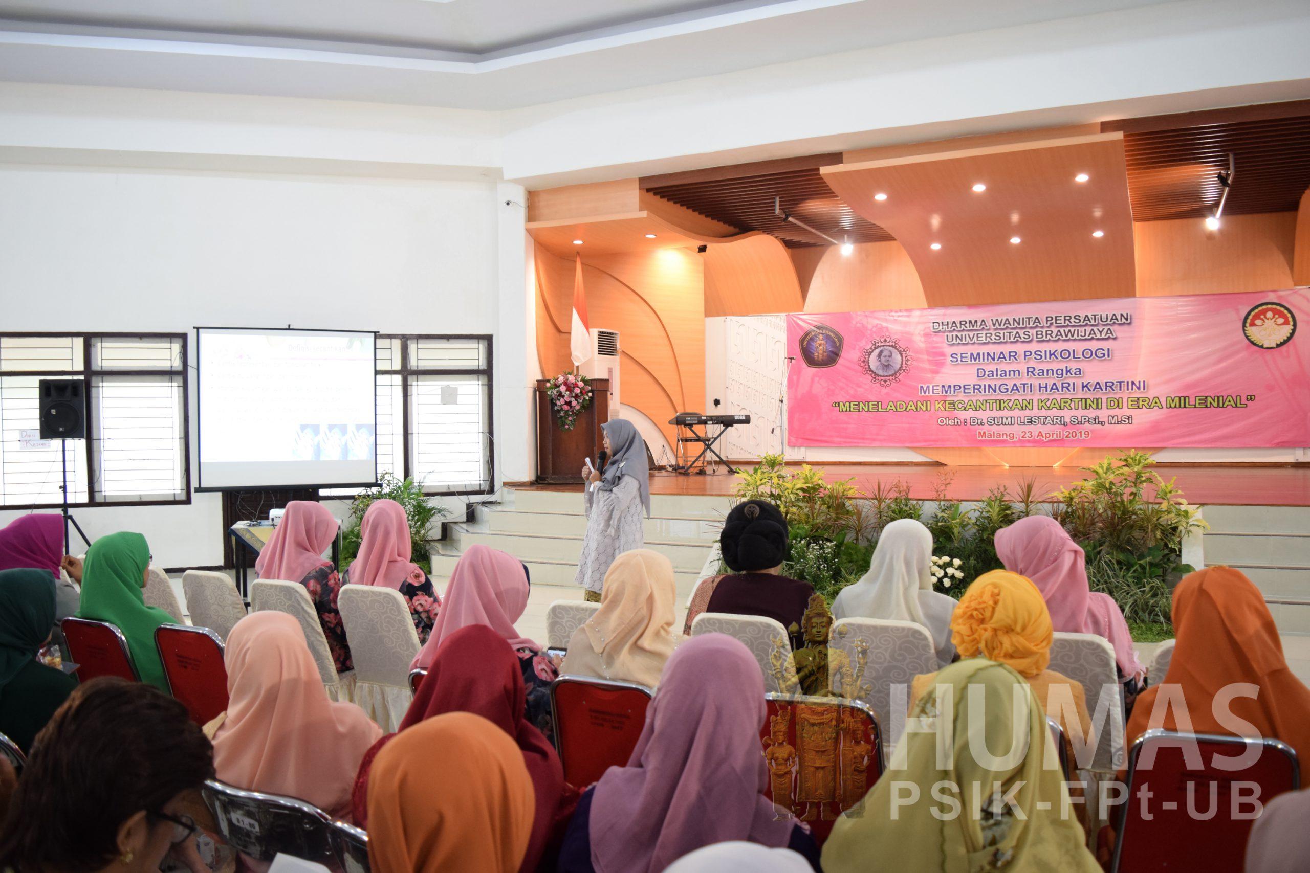 Peringati Hari Kartini DWP UB Adakan Seminar Psikologi Kecantikan