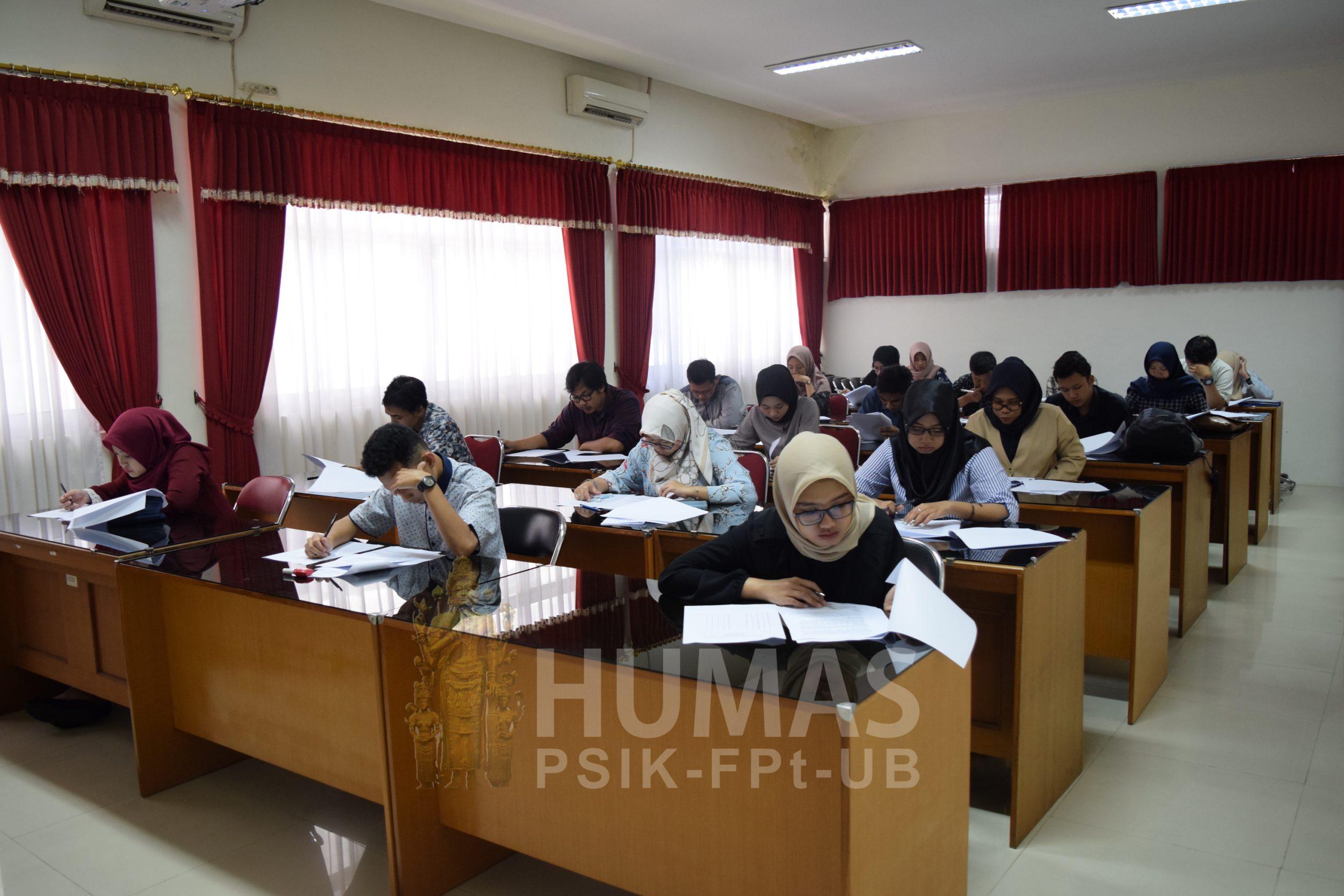 PPS Fapet UB Adakan Tes Seleksi Gelombang I Mahasiswa Baru 2019