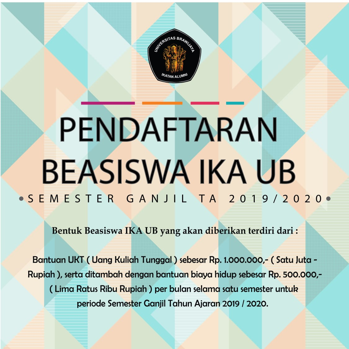 Informasi Pendaftaran Beasiswa IKA UB