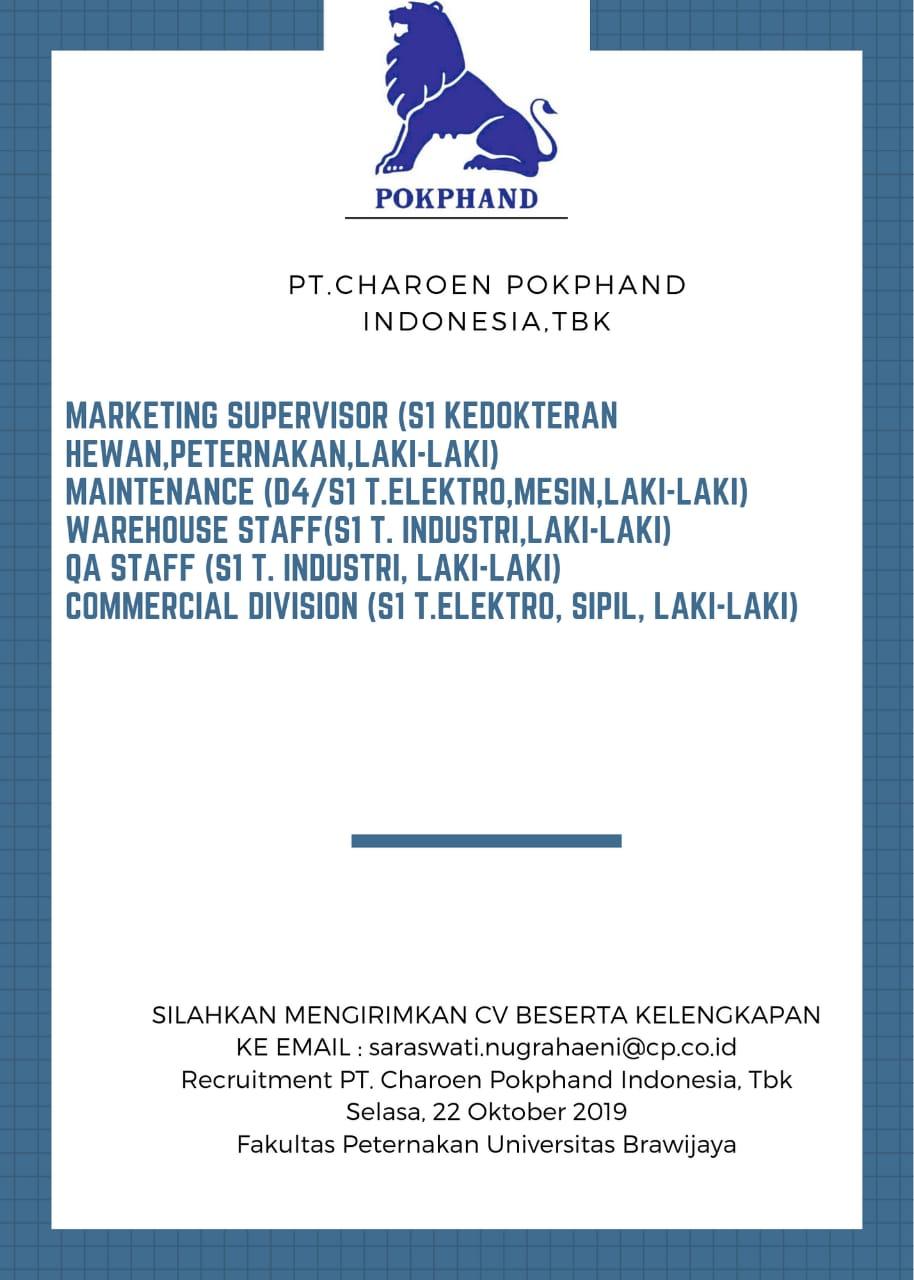 Rekrutmen dan Seleksi PT Charoen Pokphand Indonesia,Tbk