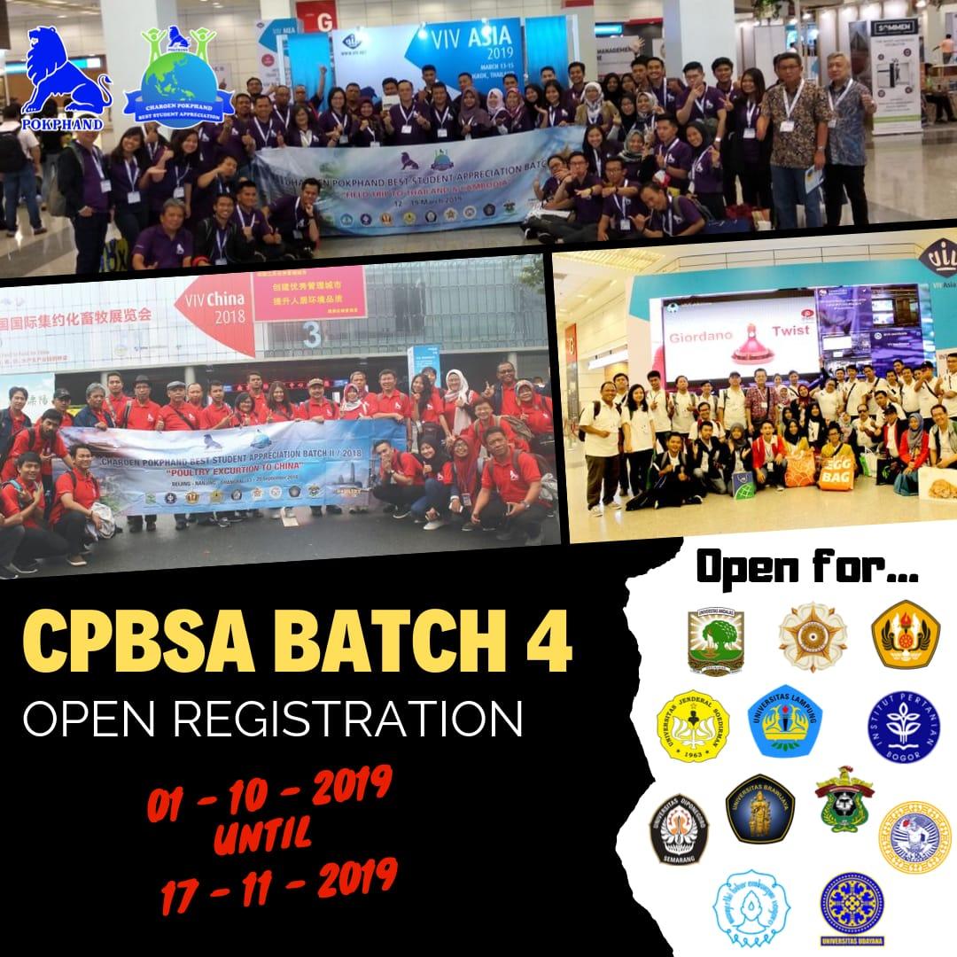 Pendaftaran CPBSA Batch 4