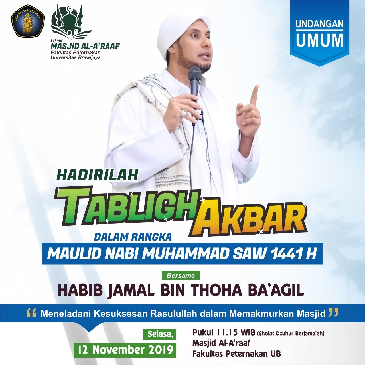 Tabligh Akbar Memperingati Maulid Nabi Muhammad SAW 1441 H