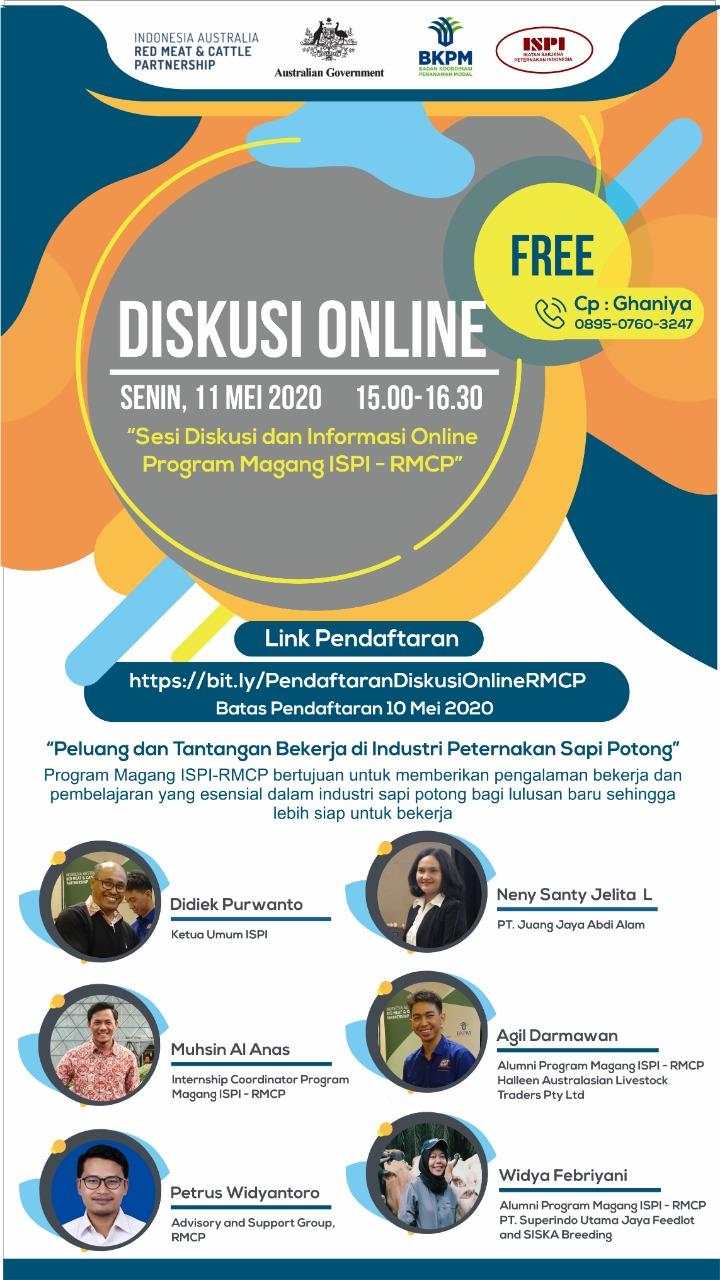 Diskusi Online Peluang dan Tantangan Bekerja di Industri Peternakan Sapi Potong