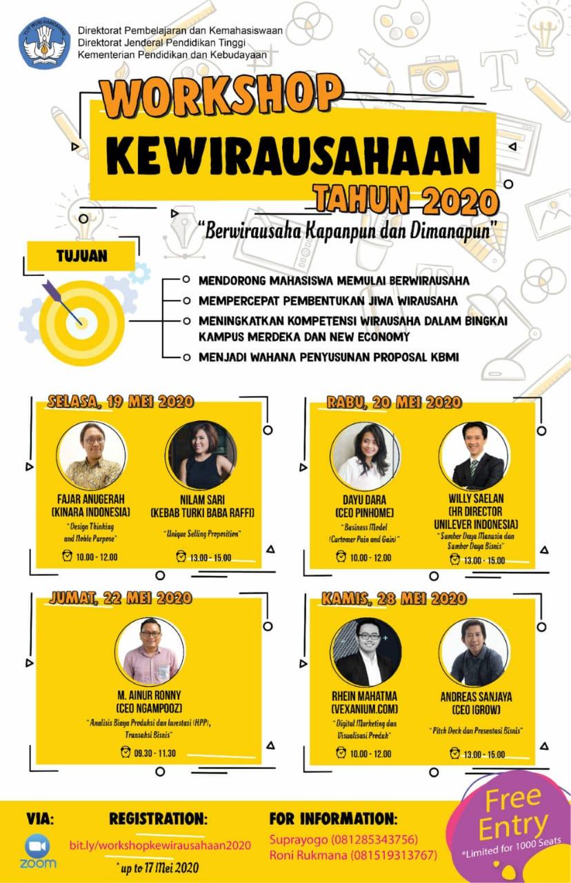 Workshop Kewirausahaan Tahun 2020
