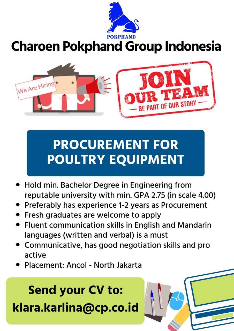 Lowongan Kerja Charoen Pokphand Group Indonesia