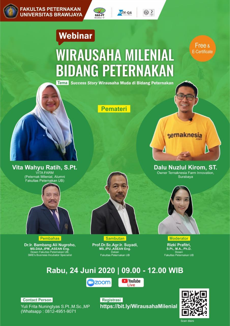 Webinar Wirausaha Milenial Bidang Peternakan
