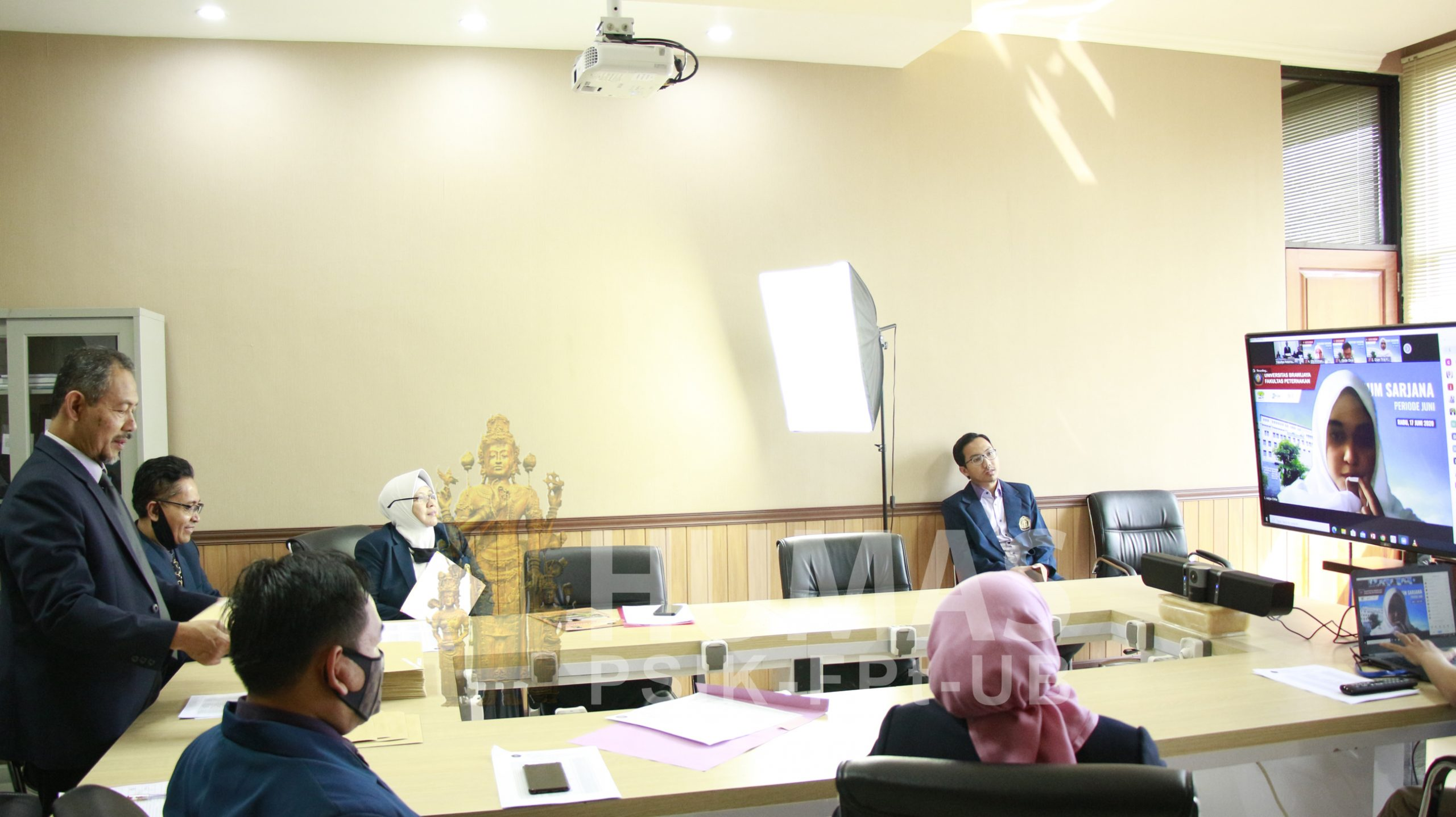 Pelaksanaan Yudisium Virtual Fapet UB Diikuti 102 Peserta