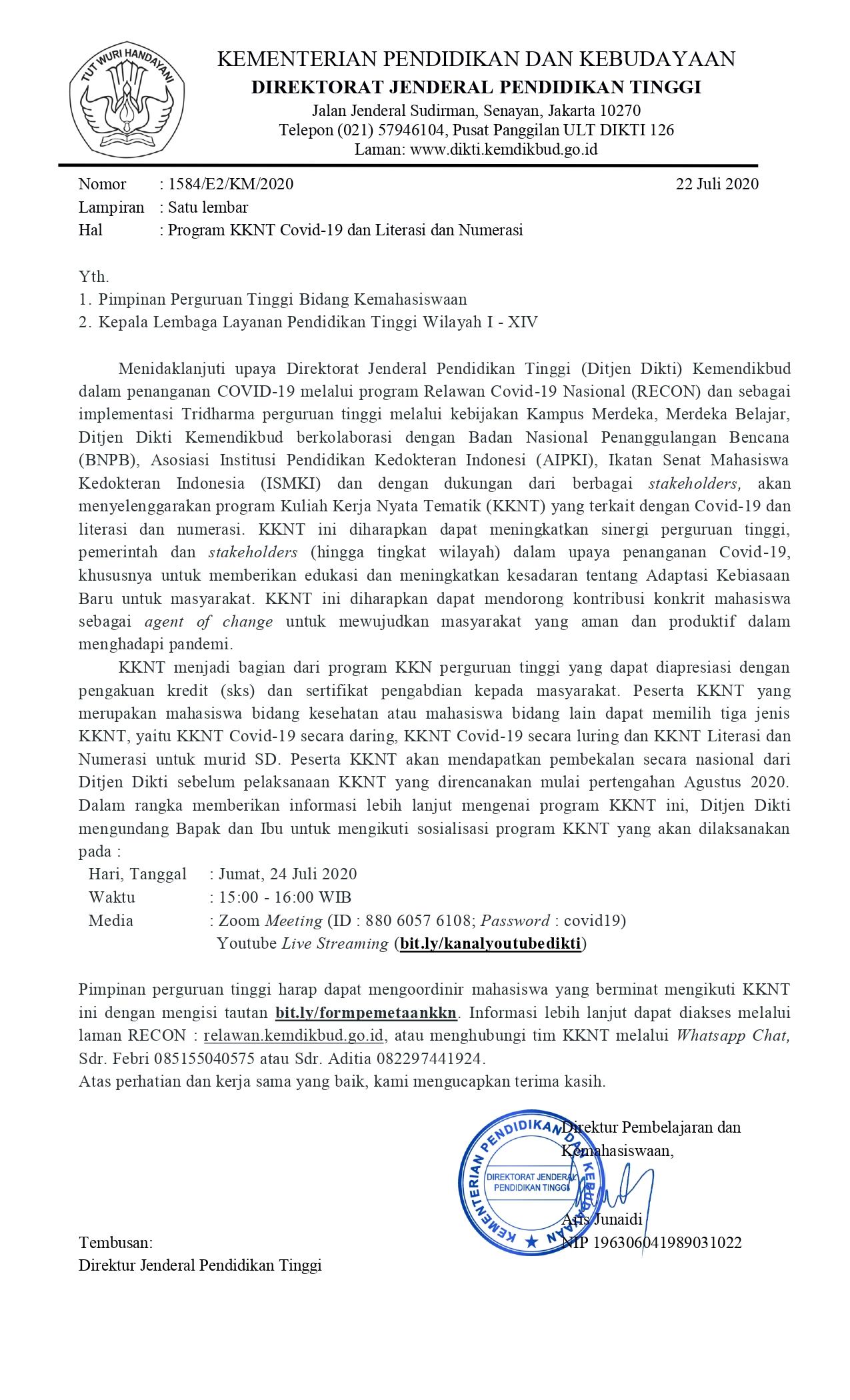 Program KKNT Covid-19 Literasi dan Numerasi