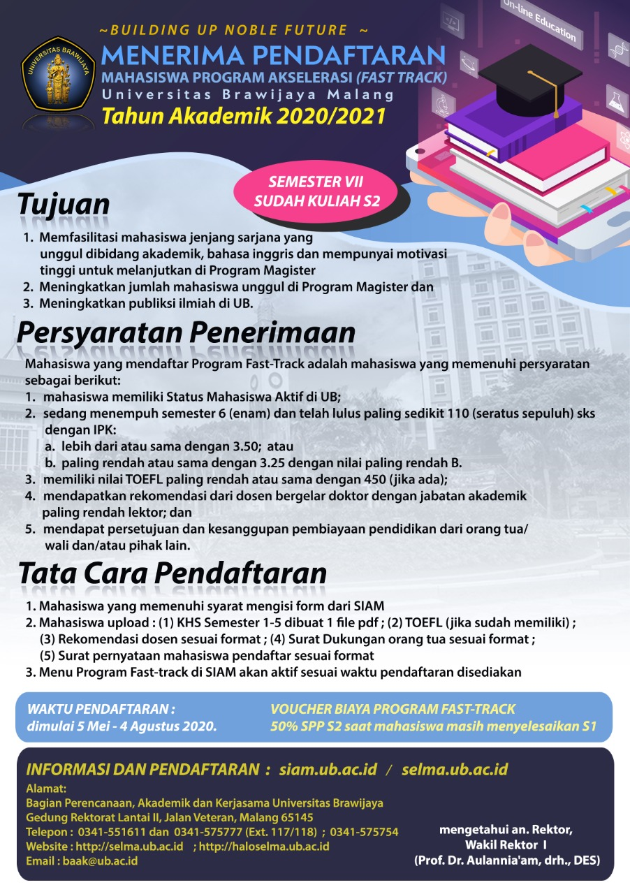 Program Akselerasi Universitas Brawijaya TA 2020/2021