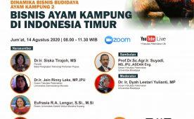 Seminar Online Bisnis Ayam Kampung di Indonesia Timur