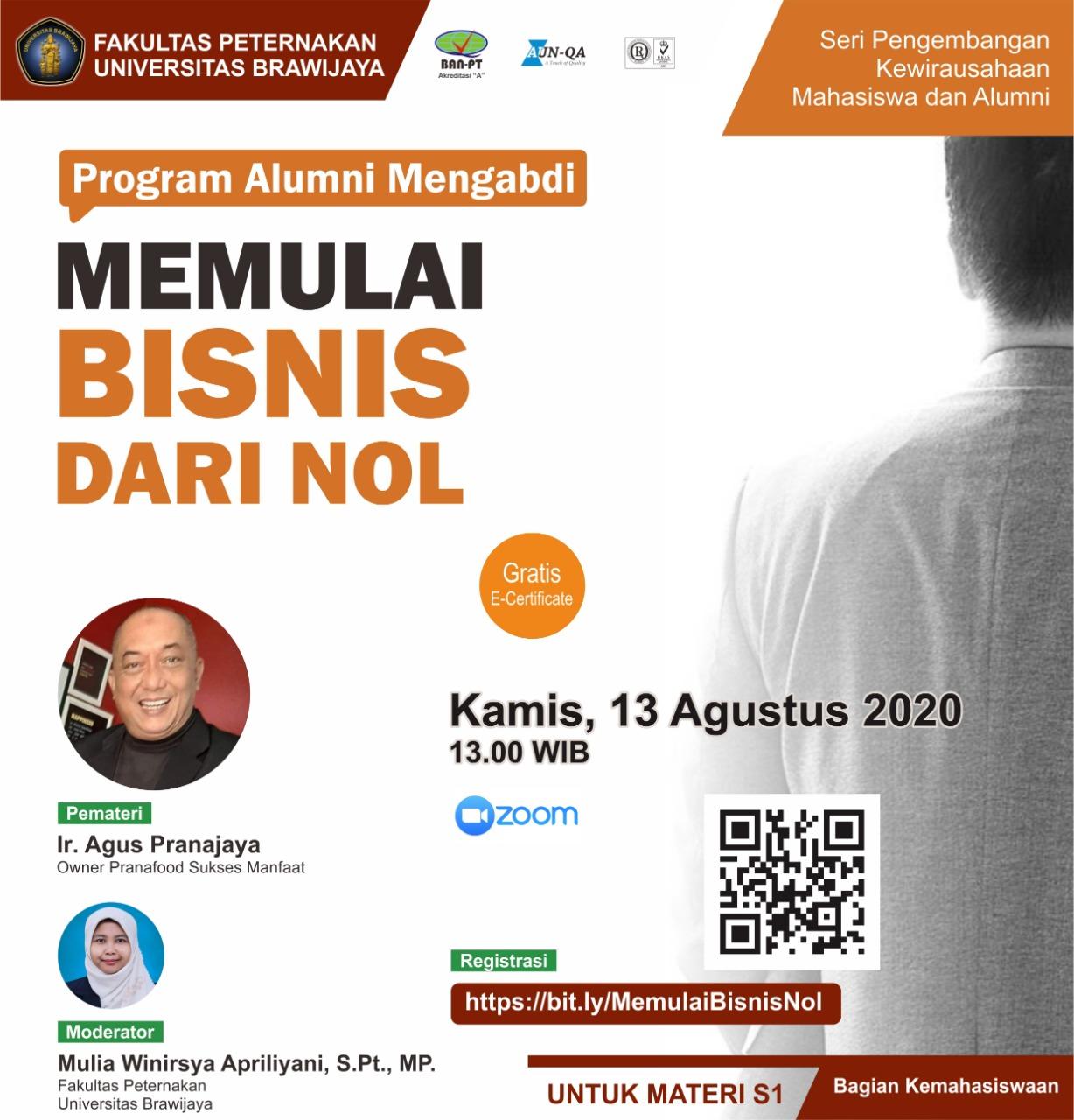 Seminar Online Memulai Bisnis dari Nol
