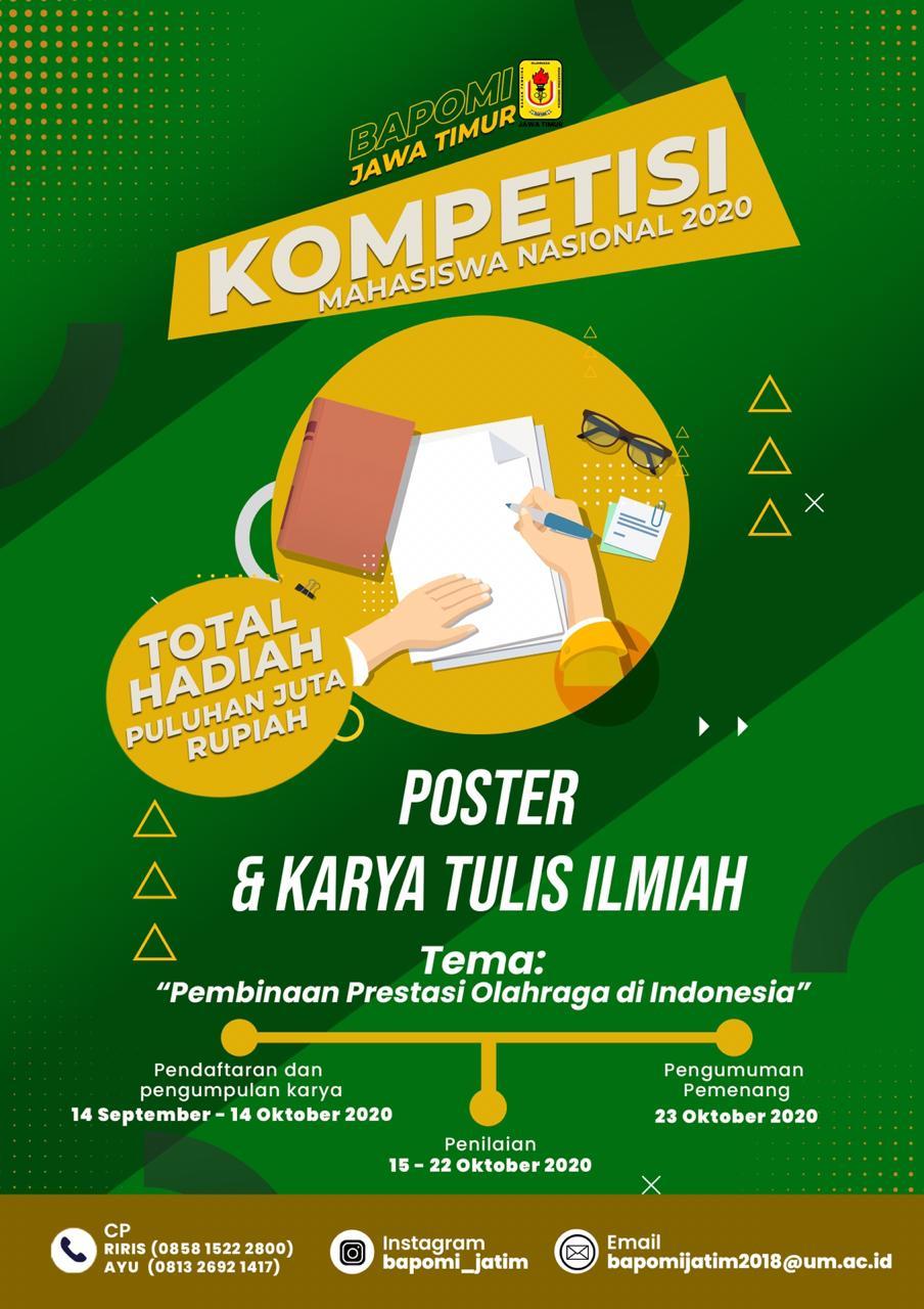 Kompetisi Poster & Karya Tulis Ilmiah Mahasiswa Nasional 2020