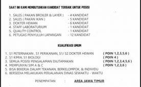 Lowongan PT. New Hope Jawa Timur