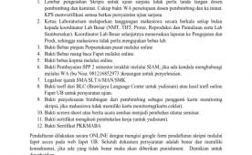 Revisi Pengumuman Terkait Ujian Sarjana