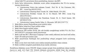 Pengumuman Kelengkapan Berkas Pendaftaran Ujian Sarjana
