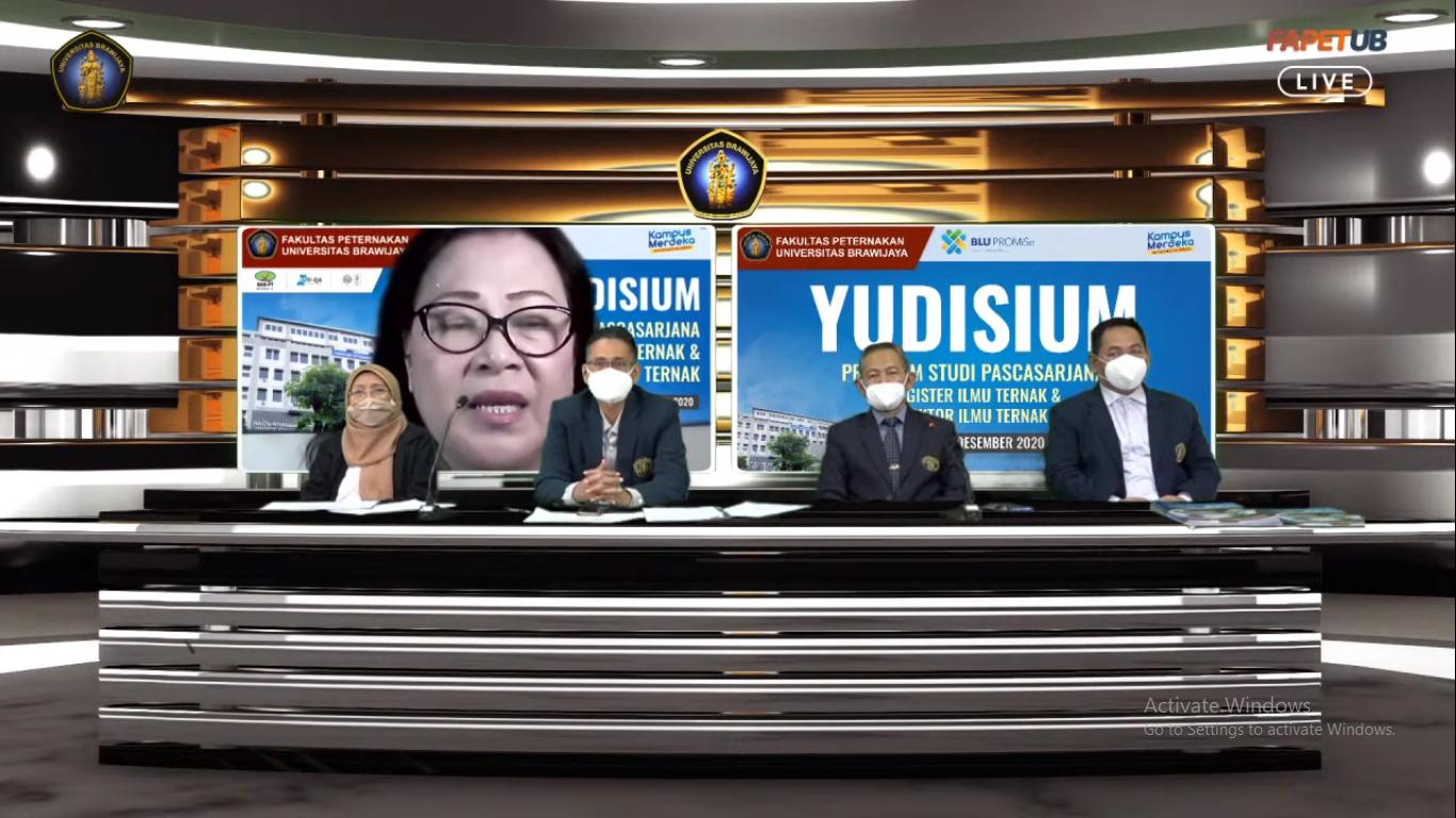 Mahasiswa Program Sarjana dan Pascasarjana Fapet UB Ikuti Yudisium Virtual