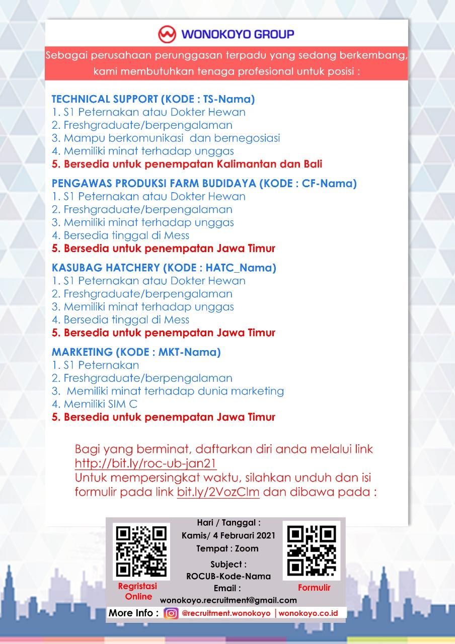 Wonokoyo Recruitment