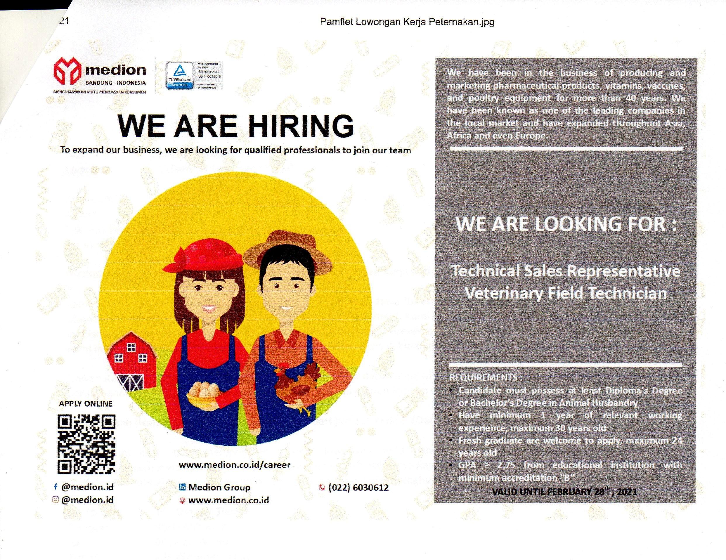 Job Vacancy of Medion
