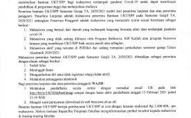 (Indonesia) Pengumuman Bantuan UKT Semester Genap TA. 2020/2021