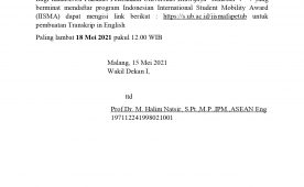 Pendaftaran Program Indonesian International Student Mobility Award