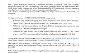 Information on Registration for UKT/SPP Assistance Kemdikbudristek Odd Semester 2021/2022