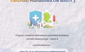 Vaccine Program for Universitas Brawijaya Students Batch 3