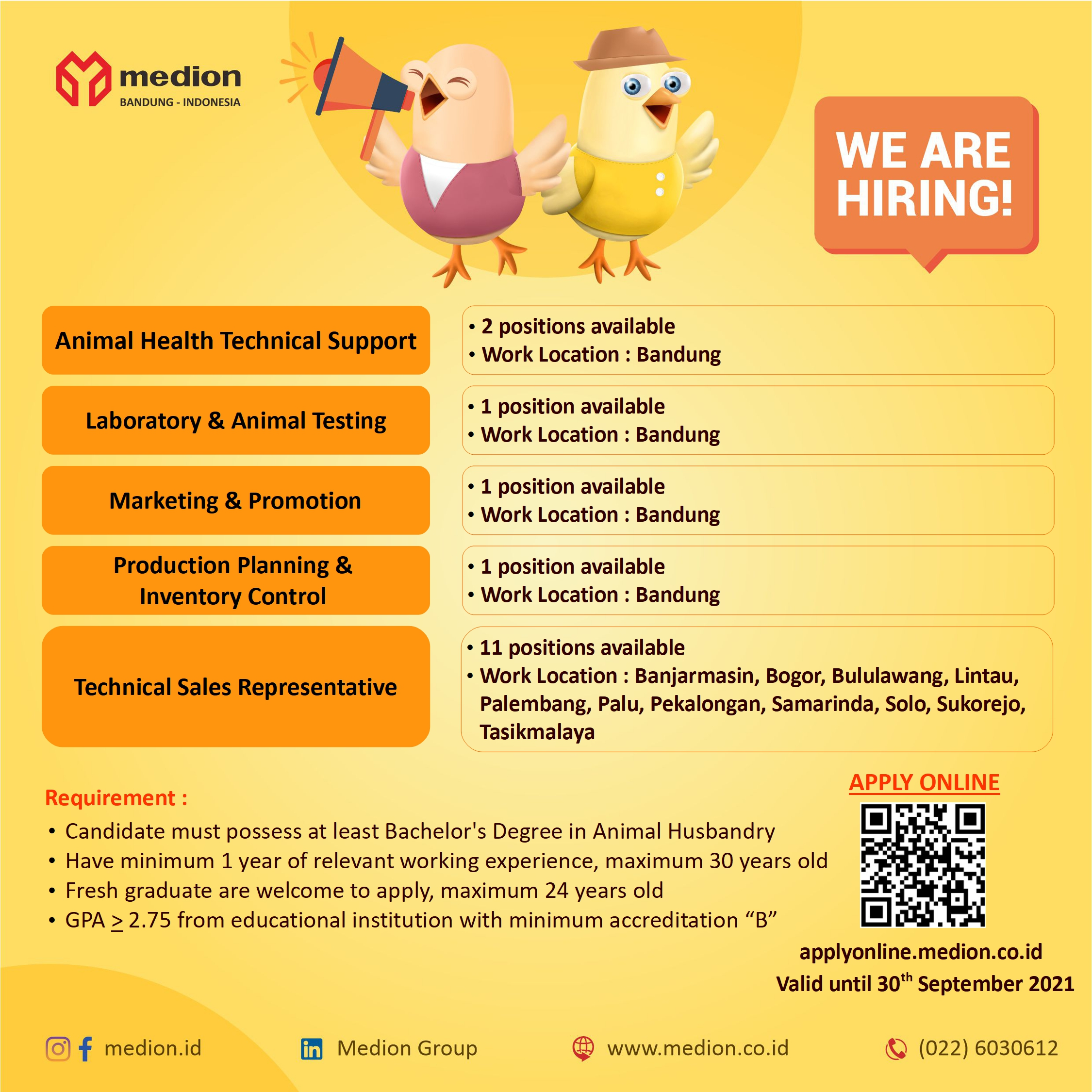 Job Vacancy at Medion